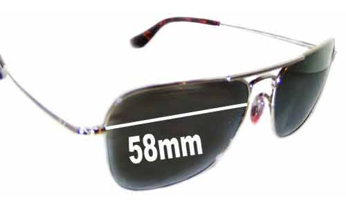 Ray Ban RB8034-K Large Replacement Sunglass Lenses - 58mm Wide