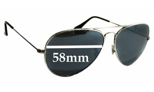 Ray Ban RB8041 Replacement Sunglass Lenses - 58mm Wide