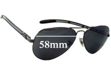 Ray Ban Aviator Tech RB8307 Replacement Sunglass Lenses - 58mm Wide