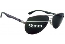 Ray Ban RB8313 Replacement Sunglass Lenses - 58mm wide