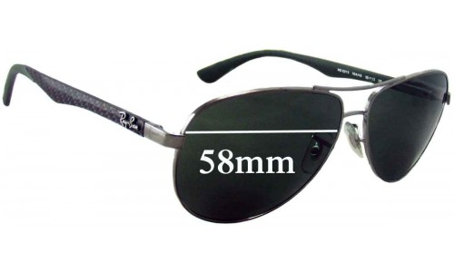 Sunglass Fix Replacement Lenses for Ray Ban RB8313 - 58mm wide