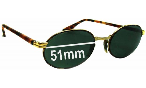 Sunglass Fix Replacement Lenses for Ray Ban W2188 Bausch Lomb - 51mm Wide