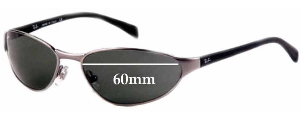 Ray Ban RB W2968 Replacement Sunglass Lenses - 60mm Wide