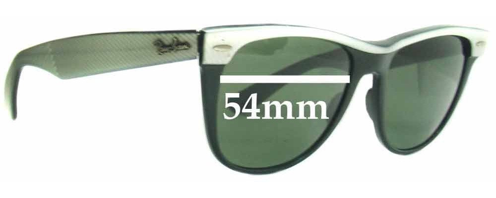 Sunglass Fix Replacement Lenses for Ray Ban Wayfarer II Bausch and Lomb - 54mm