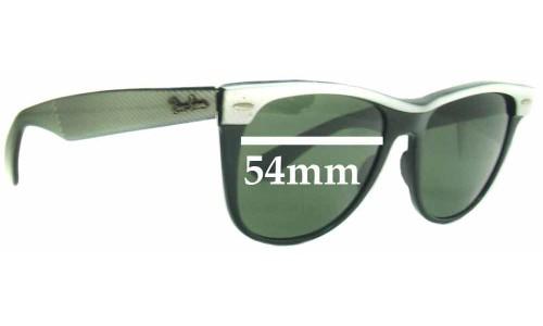 Sunglass Fix Replacement Lenses for Ray Ban Wayfarer II Bausch and Lomb - 54mm wide x 47mm high