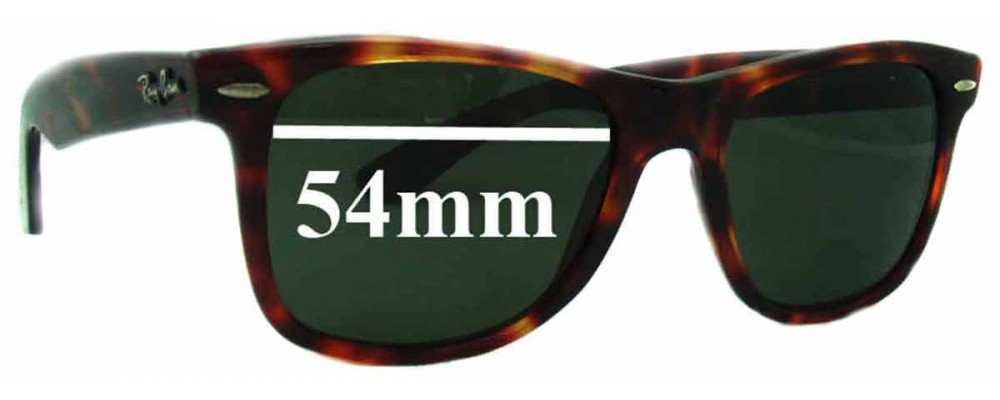 Ray Ban RB2037 Wayfarer Replacement Sunglass Lenses - 54mm wide