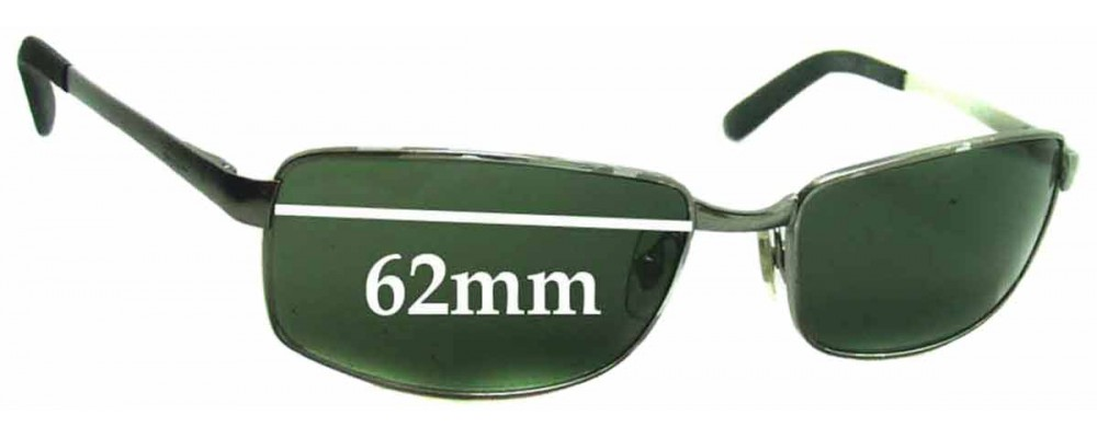 Ray Ban RB3194 Replacement Sunglass Lenses - 62mm wide