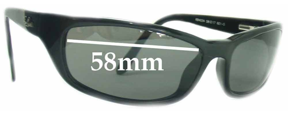 dbb21dd2d0e93 Ray Ban RB4034 Replacement Lenses 58mm by The Sunglass Fix®