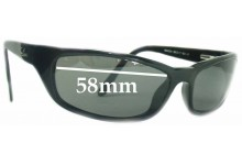Ray Ban RB4034 Replacement Sunglass Lenses - 58mm across