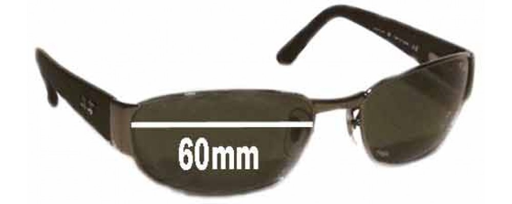 Ray Ban Undercurrent RB3141 Leather II Replacement Sunglass Lenses - 60MM wide