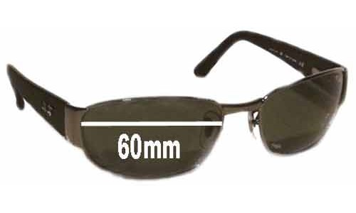 Sunglass Fix Replacement Lenses for Ray Ban Undercurrent RB3141 Leather II - 60MM wide