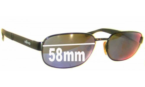 Revo RE3002 New Sunglass Lenses - 58mm Wide