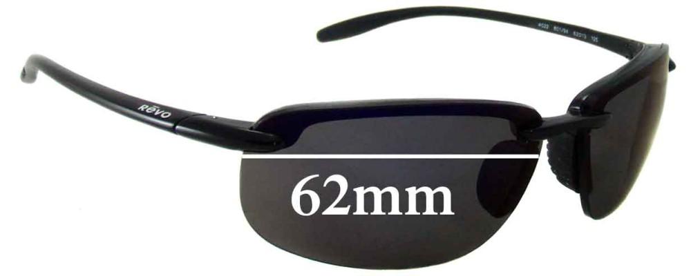 Revo Sunglasses Repair  re4022 replacement sunglass lenses 62mm wide
