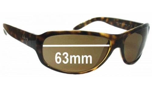 Sunglass Fix Replacement Lenses for Revo 4025 -63mm Wide