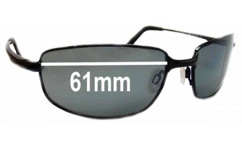 Revo RE8000 Discern Titanium Replacement Sunglass Lenses - 61mm Wide Lenses