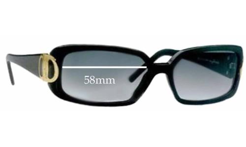 Salvatore Ferragamo 2065 Replacement Sunglass Lenses - 58mm Lenses