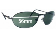 Sunglass Fix Replacement Lenses for Serengeti Hurikanu - 56mm Wide