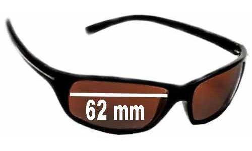 Serengeti Pisa All Models Replacement Sunglass Lenses - 62mm Wide