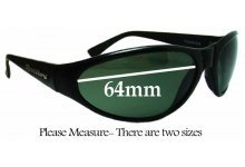 Sunglass Fix New Replacement Lenses for Spotters Thunder - 64mm Wide