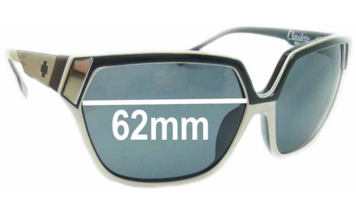 Spy Optics Claudette New Sunglass Lenses- 62mm Wide