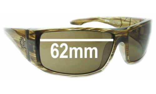 Spy Optics Cooper XL Replacement Sunglass Lenses - 62mm Wide