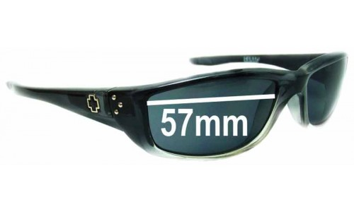 Spy Optics Curtis Replacement Sunglass Lenses - 57mm Wide