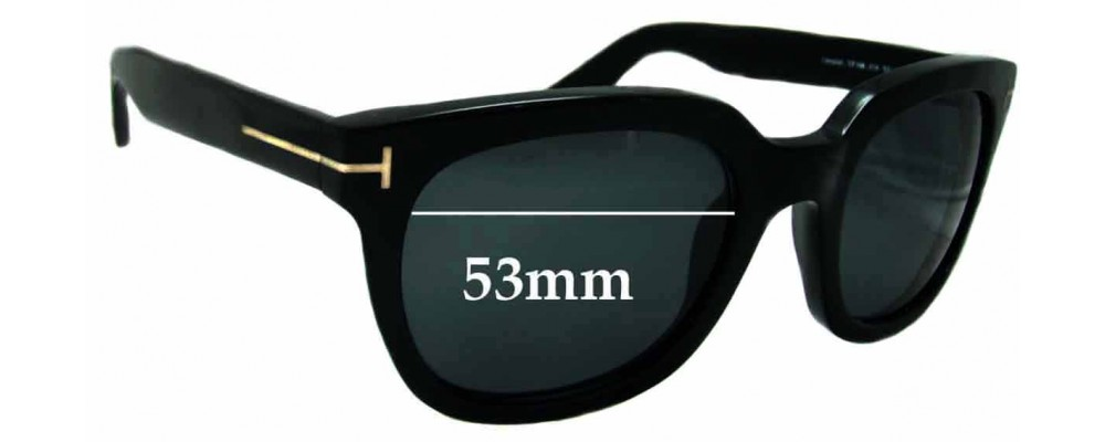 b7ccb86eb7a Tom Ford Campbell TF198 Replacement Lenses - 53mm Wide
