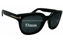Tom Ford Campbell TF198 Replacement Sunglass Lenses - 53mm Wide