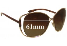 Tom Ford Emmeline TF155 Replacement Sunglass Lenses - 61mm Wide
