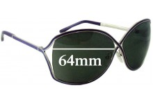 Tom Ford Rickie TF179 Replacement Sunglass Lenses - 64mm Wide