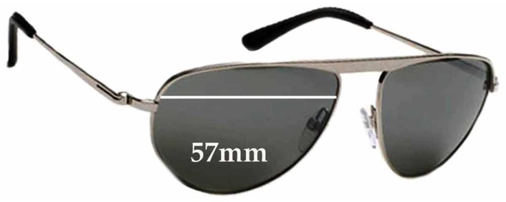 d0e066e823 Tom Ford James Bond 007 TF108 Replacement Sunglass Lenses 57mm Wide