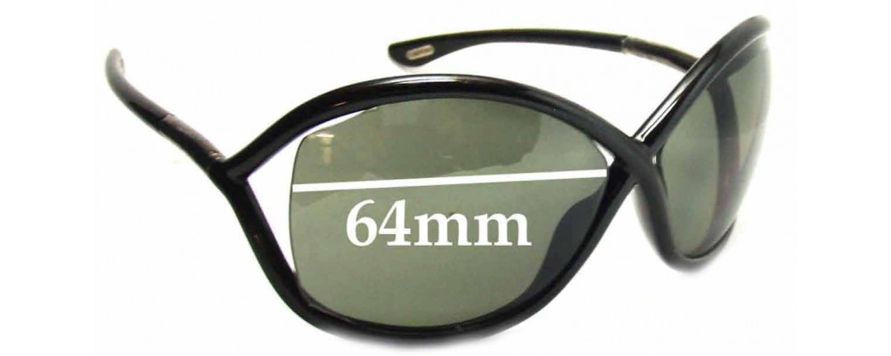 feb813fd599 Tom Ford FT0009 Whitney Replacement Sunglass Lenses - 64mm Wide