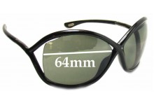 Sunglass Fix Replacement Lenses for Tom Ford Whitney FT0009 - 64mm Wide