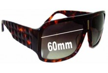 Tsubi Padgett Replacement Sunglass Lenses - 60mm Wide