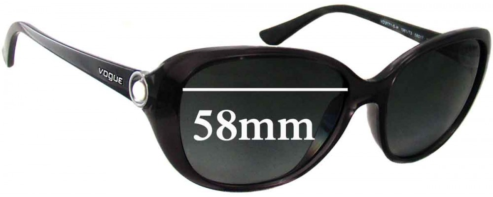 Vogue VO2771-S-H Replacement Sunglass Lenses - 58mm Wide