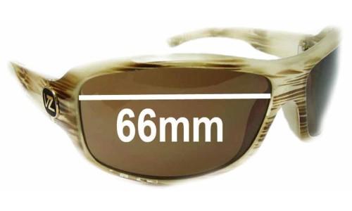 Von Zipper Absinthe Replacement Sunglass Lenses - 66mm Wide