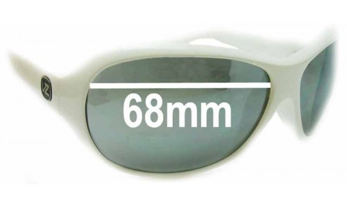 Von Zipper Brodie Replacement Sunglass Lenses - 68m wide