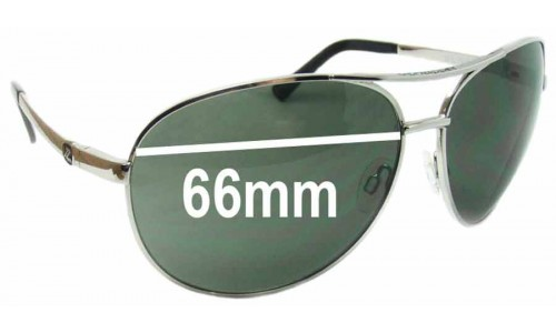 Von Zipper Bunker Replacement Sunglass Lenses - 66mm wide