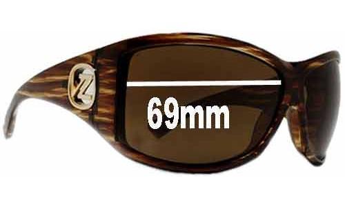 Von Zipper Debutante Replacement Sunglass Lenses - 69mm wide