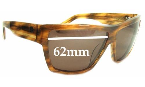 Von Zipper Desmond Sunglass Replacement Lenses - 62mm wide