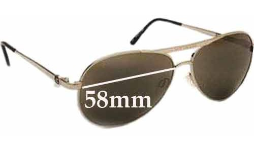 Von Zipper Fernstein Replacement Sunglass Lenses - 58mm wide