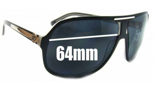 Von Zipper Hoss Replacement Sunglass Lenses - 64mm wide