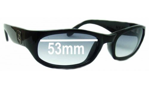 Von Zipper Mazzi Replacement Sunglass Lenses - 53mm Wide