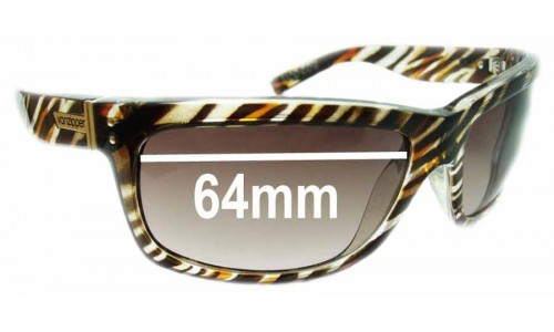 Von Zipper Mod Con Replacement Sunglass Lenses - 64mm Wide