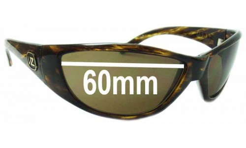 Von Zipper Modge Replacement Sunglass Lenses - 60mm wide