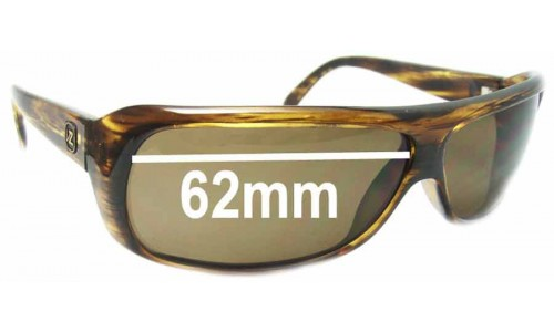 Von Zipper Monza Replacement Sunglass Lenses - 62mm Wide