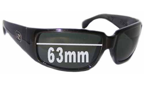Von Zipper Papa G Replacement Sunglass Lenses - 63mm wide