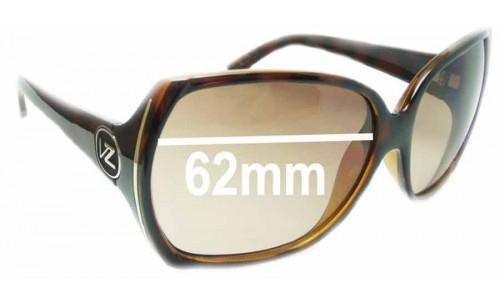 Von Zipper Trudie Replacement Sunglass Lenses - 62mm wide