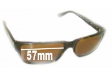 Wayne Cooper WC982 Replacement Sunglass Lenses - 57mm Wide