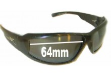 Wiley Airborne Replacement Sunglass Lenses - 64mm Wide